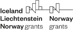 Logo Europejski Obszar Gospodarczy. Czarne napisy na białym tle.